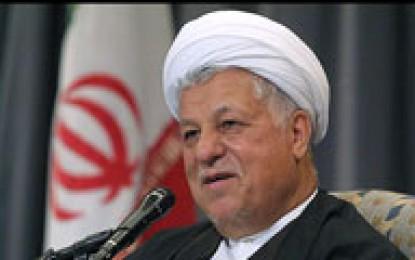 شرکت هاشمی در رای گیری انتخابات مجلس